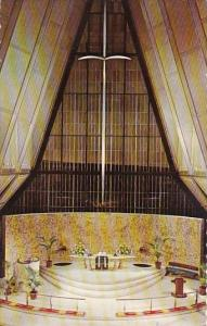 Colorado Interior View Protestant Chapel U S Air Force Academy Colorado Springs