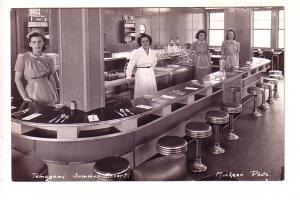 Real Photo, Uniformed Waitress and Cook in Diner, Temagami Summer Resort Onta...