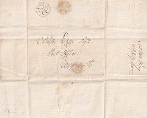 Doctor Victorian Letter Derby Patient Weymouth Dorset 1805 Medical Ephemera