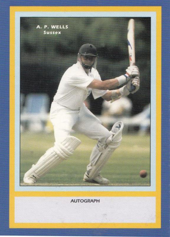 AP Wells Sussex RARE Limited Edition Vintage Cricket Trading Photo Card