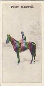 Wills Vintage Cigarette Card New Zealand Race Horses 1928 No 12 Peter Maxwell