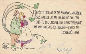 AS: Irish Couple, Poem of the Irishman's Toast, Clovers, 1900-10s