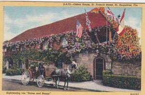 Florida St Augustine Oldest House St Francis Street Curteich
