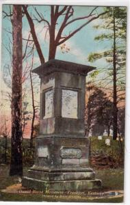 Daniel Boone Monument, Frankfort KY
