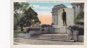 Lincoln Statue, State Capitol Grounds, Springfield, Illinois, 1910-1920s