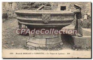 Postcard Old Route Morlaix Carantec Cauldron of Lysireur