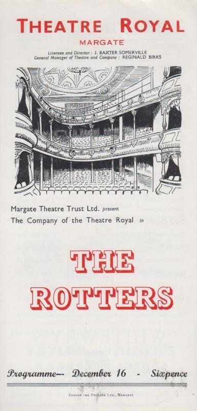 The Rotters Reginald Birks BBC Sunday Night Theatre Royal Margate Programme