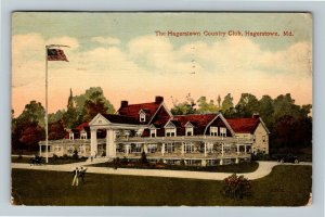 Hagerstown MD-Maryland, The Hagerstown Country Club, Vintage c1921 Postcard