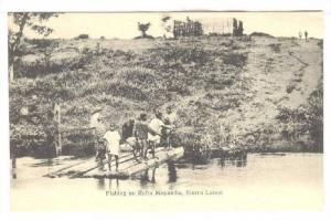Fishing on Rafts , Moyamba , Sierra Leone , Pre-1907