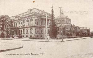 E56/ Postcard Carribean Trinidad c1910 B.W.I. West Indies Governement Building