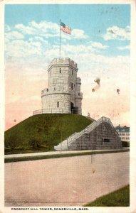 Massachusetts Springfield Prospect Hill Tower 1917 Curteich