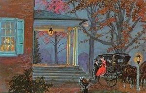 Wheatland, Lancaster, PA Buchanan Carriage Painting ca 1960s Vintage Postcard