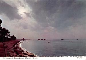 Vintage Postcard Evening at La Hocq, Jersey by Valentine & Sons Ltd C84