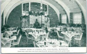 Stillwater, Minnesota Postcard GARDEN ROOM at LOWELL INN Restaurant Unused