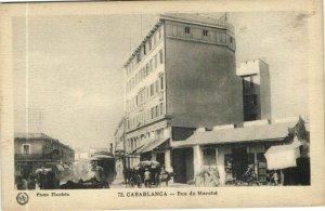 CPA AK MAROC CASABLANCA Rue de Marche Flandrin (37668)