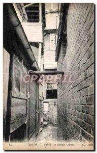 Old Postcard Noyon House or born Calvin