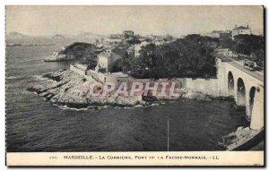 Old Postcard Marseille Corniche The Bridge Of Counterfeit Money
