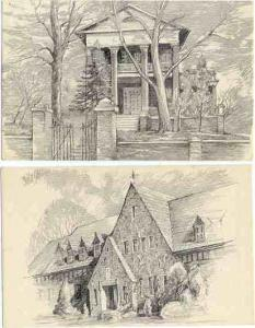 Chester IL Scenes: Wm. E. Mullens Home & St. Ann's Home for the Aged