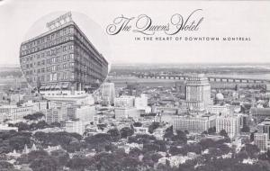 Aerial view,  The Queen's Hotel,  Montreal,  Quebec,   Canada,   40-60s