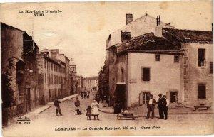 CPA La Hte-Loire Illustrée LEMPDES La Grande Rue (alt.430m) -Cure... (202870)