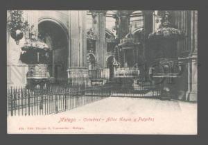 083153 SPAIN Malaga Catedral Altar Mayor y Pulpitos Vintage PC