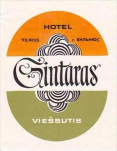 RUSSIA VIESBUTIS HOTEL GINTARAS LUGGAGE LABEL