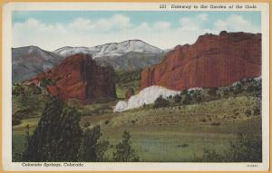Colorado Springs, Colo., Gateway to the Garden of the Gods -