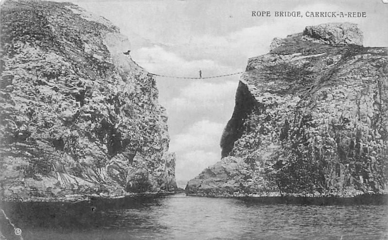 Northern Ireland Rope Bridge, Carrick-A-Rede, Simple suspension bridge