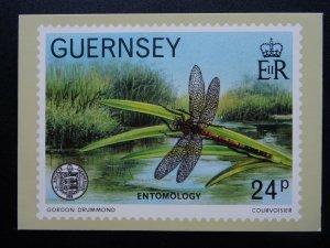 Guernsey ENTOMOLOGY Artist Gordon Drummond  3-D 1982 Postcard