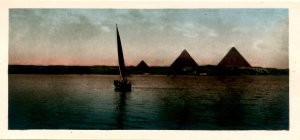 Egypt - Pyramids During the Inundation *RPPC  (2.75 X 5.875)