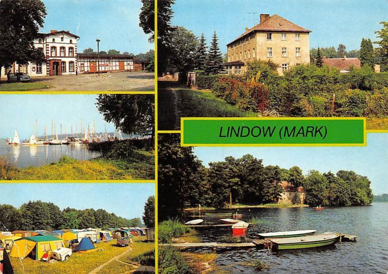 Lindow (Mark) Bahnhof Campingplatz am Gudelacksee Kloster Lake Boats