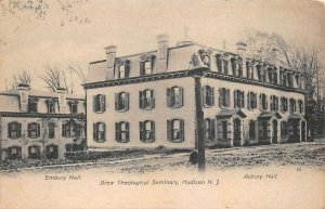 LPN15 Madison New Jersey Postcard Drew Theological Seminary Embury & Asbury Hall