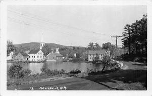 Morrisville NH Town View RPPC Postcard