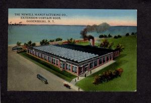 NY Newell Manufacturing Co Rods Ogdensburg, New York Postcard Factory Plant