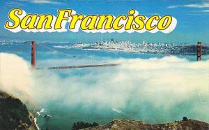 California San Francisco Golden Gate Bridge In The Fog