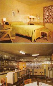 Mount Ephraim New Jersey~Bo-Bet Motel & Coffee Shop~2 Views~Room-Coffee Bar~'50s