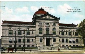Court House at South Bend IN, Indiana - pm 1914