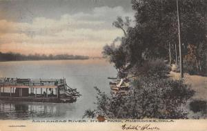 Muskogee Oklahoma Hyde Park Arkansas River Antique Postcard K106548