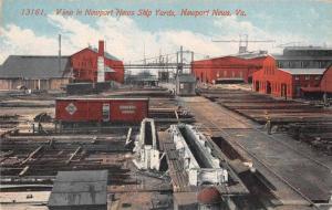 Newport News Virginia Ship Yards Railroad Vintage Postcard JE229133