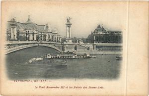 CPA PARIS EXPO 1900 - Le Pont Alexandre III et les Palais (306249)