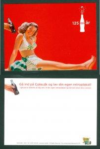 Denmark. Postcard. 2017 Coca Cola 125 Year. Swim Girl
