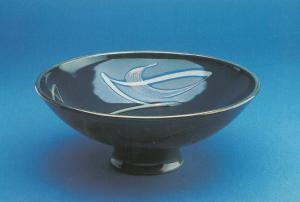 Footed Bowl Nick Caiger Smith Painting Postcard