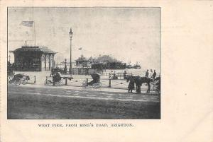West Pier, from King's Road Promenade Brighton 1904