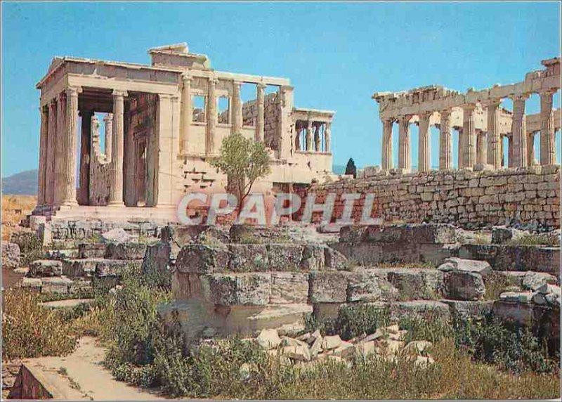 Postcard Modern Athens Parthenon and Erechtheion
