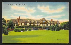 Maple Shade Inn Pulaski VA unused c1940's