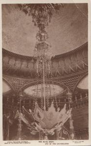 RP: BRIGHTON, England, 20-40s; Chandelier in Music Room, Royal Pavilion; TUCK