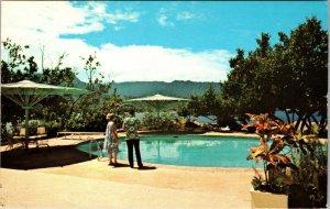 Kauai, HAWAII- Hanalei Plantation - Bay of Hanalei POOL SIDE postcard