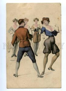 176177 FENCING Lady & Gentleman by BRAUN Vintage PC