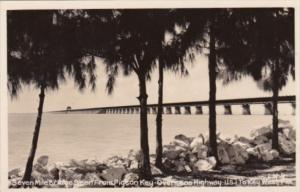 Florida Seven Mile Birdge To Key West Seen From Pigeon Key Real Photo