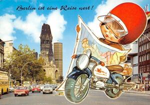 Berlin Kurfuerstendamm Kirche Church Street Vintage Cars Auto Voitures